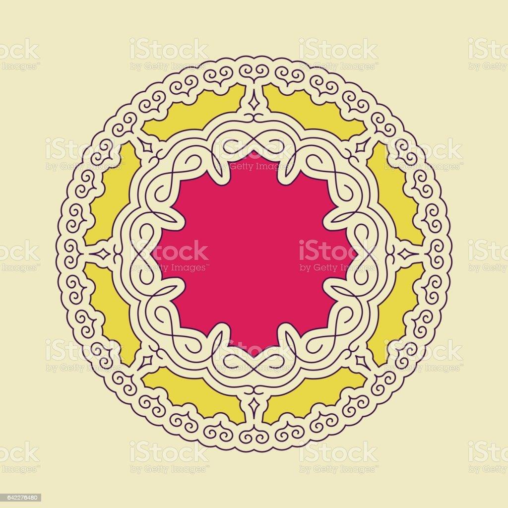 Ethnic Circle Element. Orient Traditional Design. vector art illustration