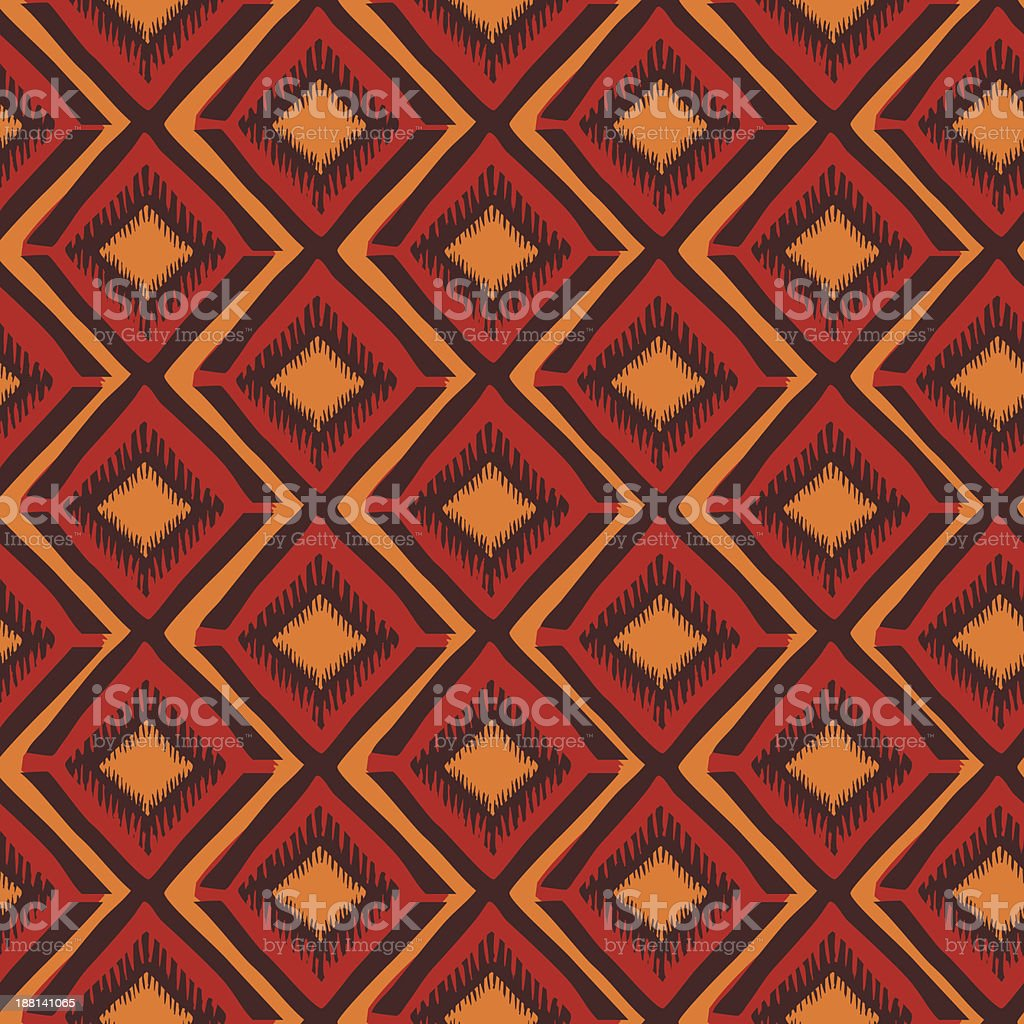 Ethnic geometric seamless pattern vector art illustration