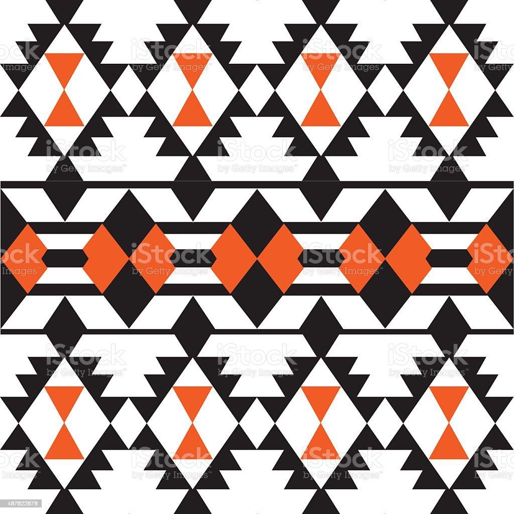 ethnic geometric seamless vector pattern vector art illustration