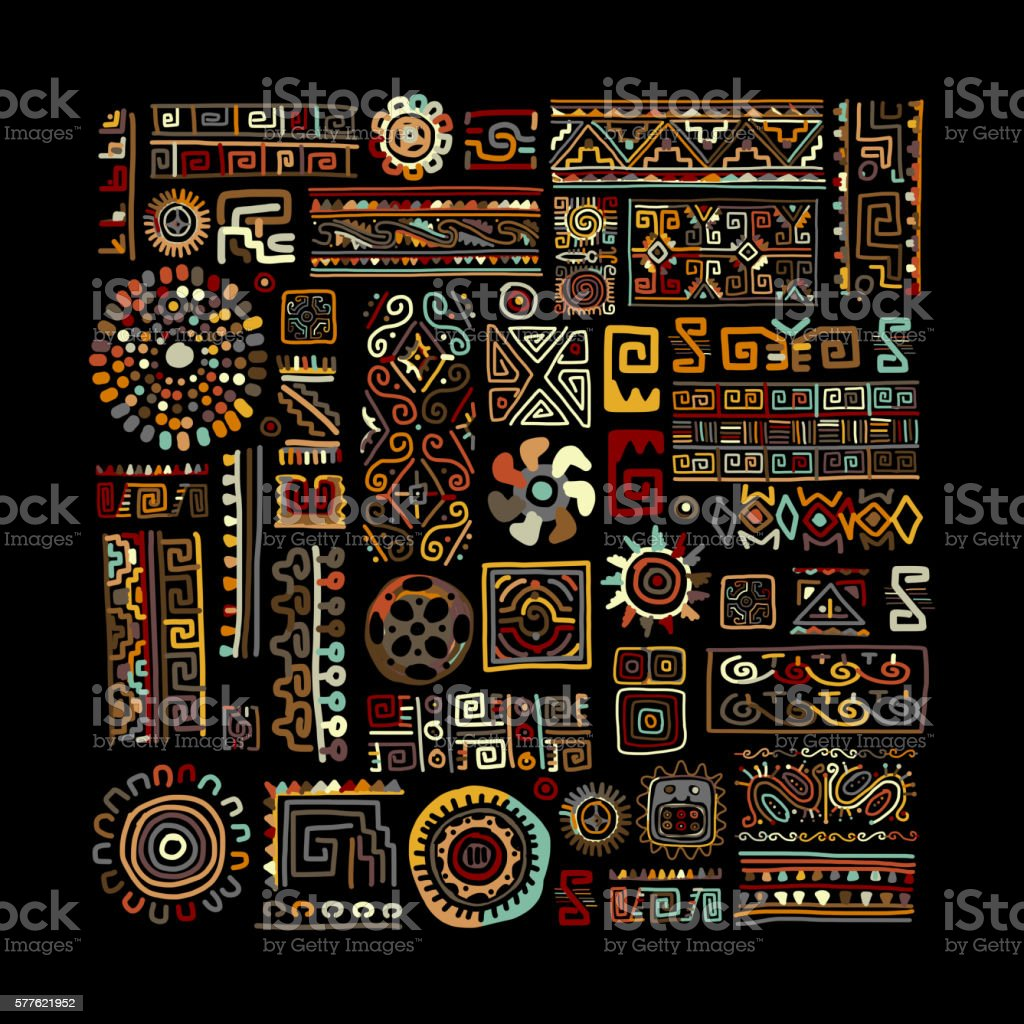 Ethnic handmade ornament for your design vector art illustration