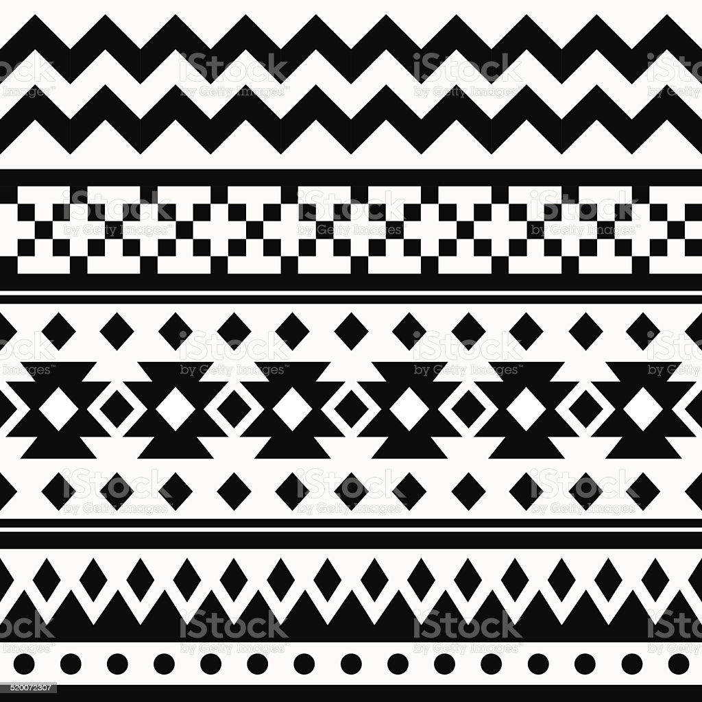 Ethnic ornamental seamless pattern vector art illustration