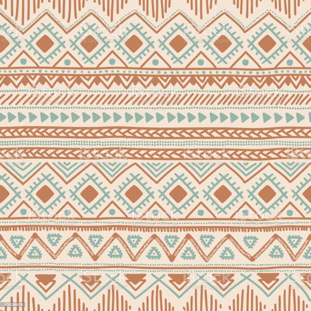 Ethnic seamless background. Tribal geometric color pattern. vector art illustration