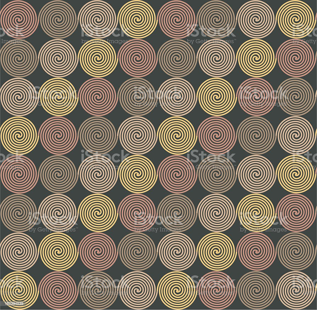 ethnic seamless pattern with spirals royalty-free stock vector art