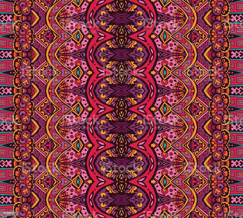ethnic striped pattern vector art illustration