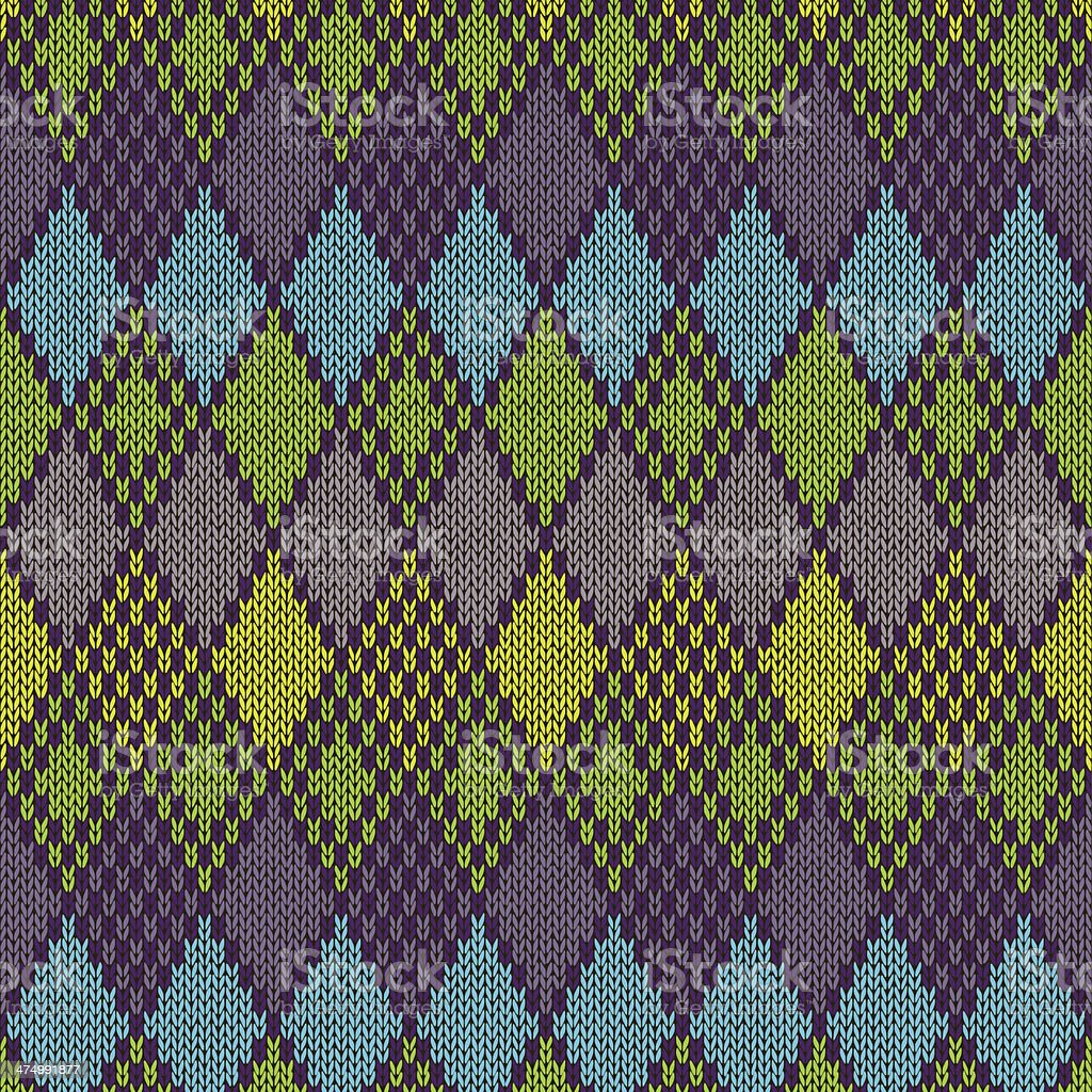 Ethnic Style Seamless Knitted Pattern royalty-free stock vector art