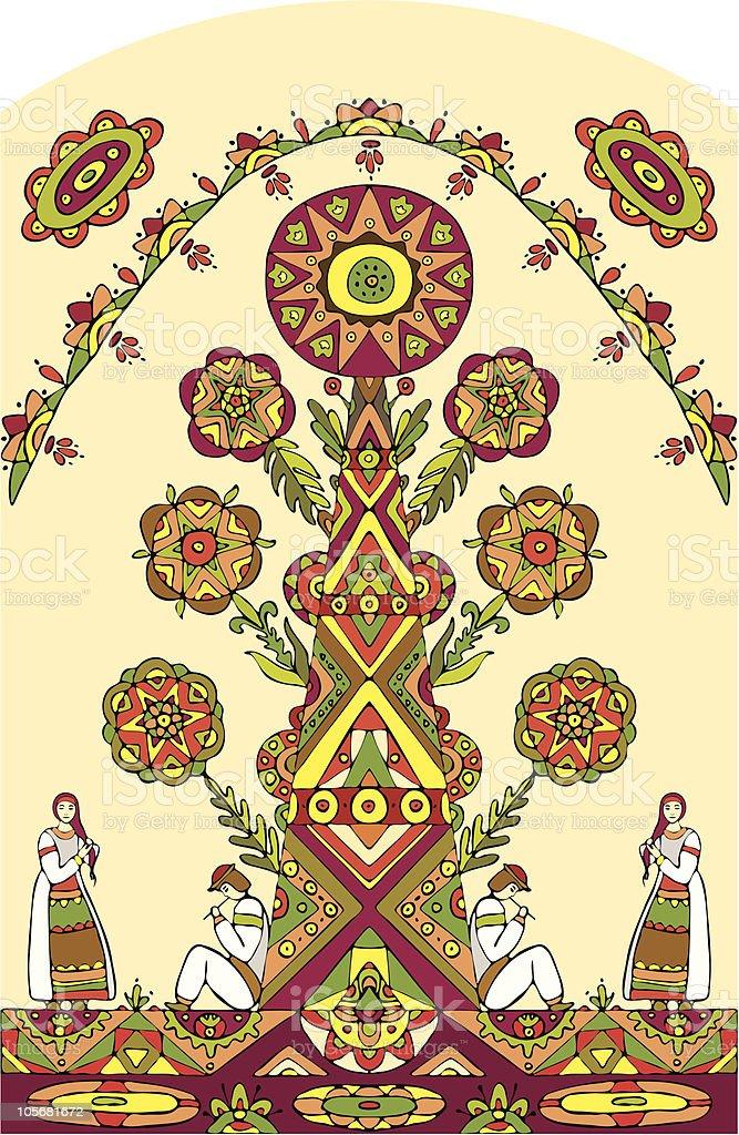 ethnic tree royalty-free stock vector art