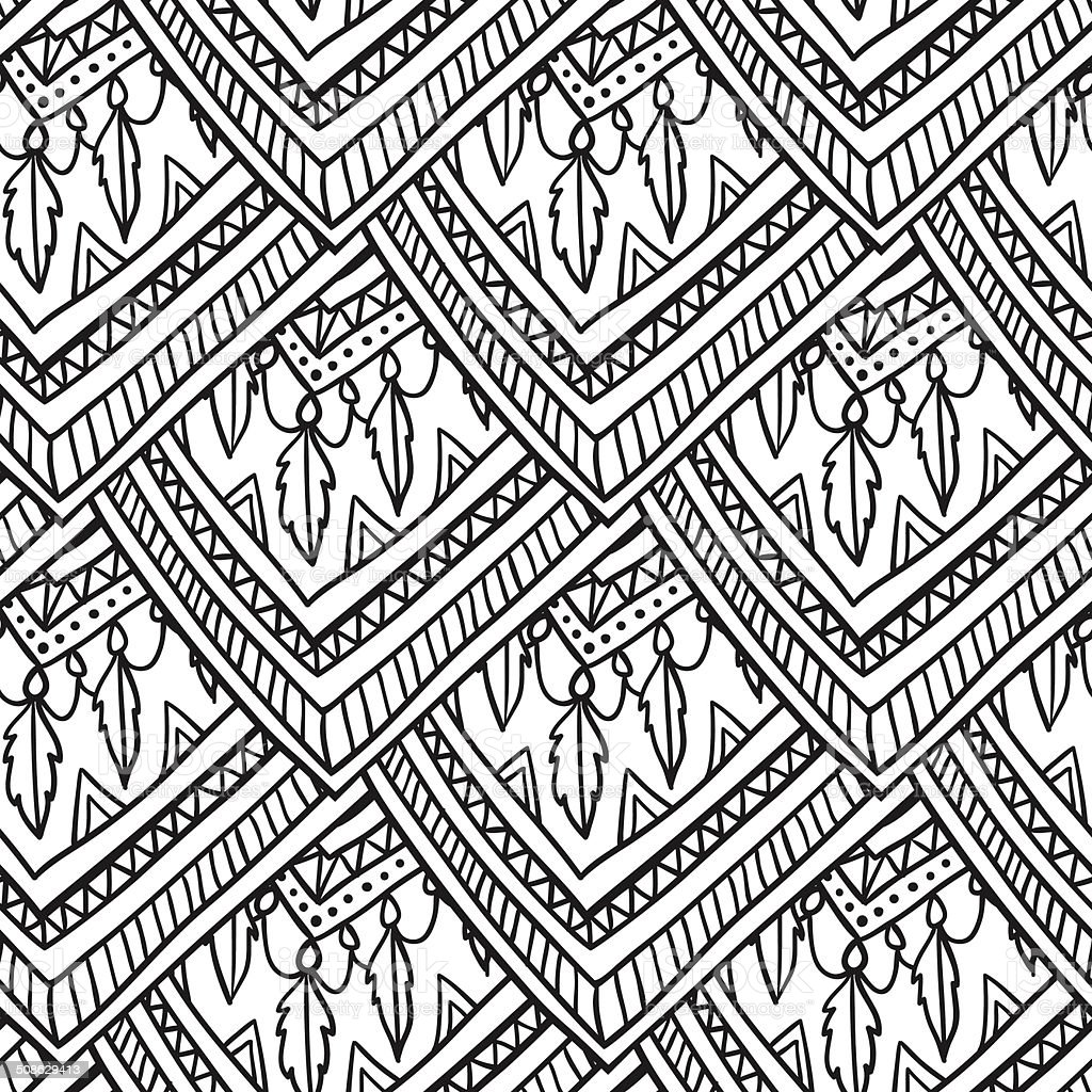 Ethno romb pattern vector art illustration