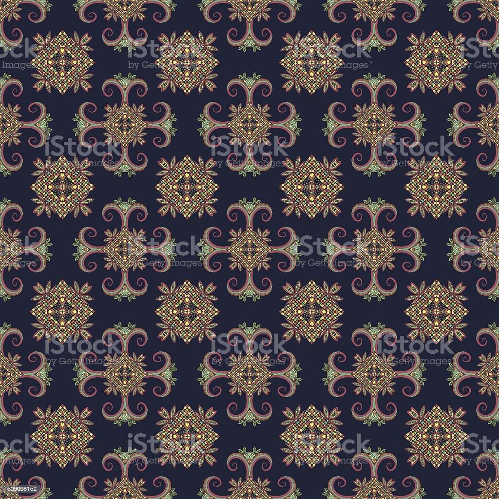 Ethno seamless pattern. Boho ornament. Vintage decorative elements. Tribal art royalty-free stock vector art