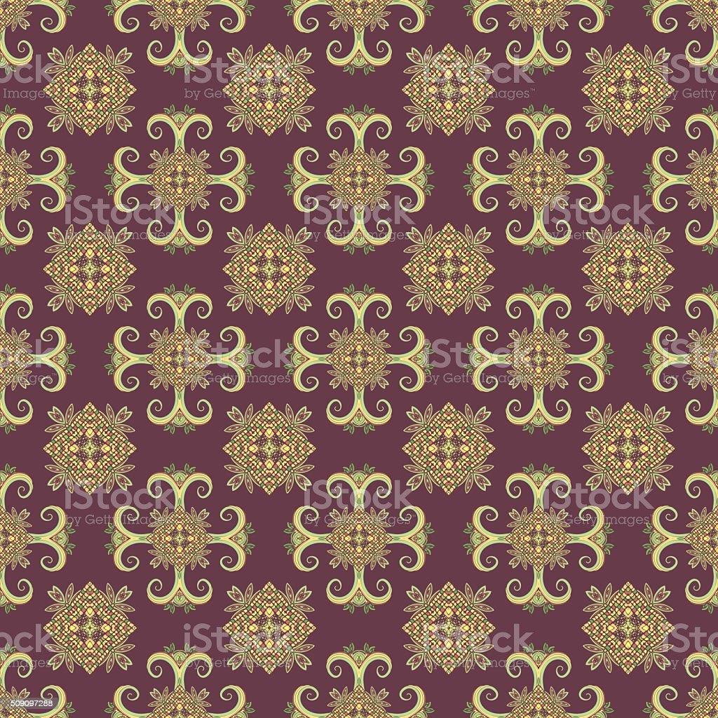 Ethno seamless pattern. Boho ornament. Vintage decorative elements royalty-free stock vector art