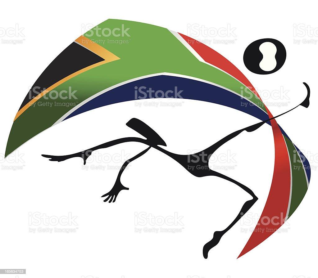 WM 2010 Ethno Style South Africa Flag vector art illustration