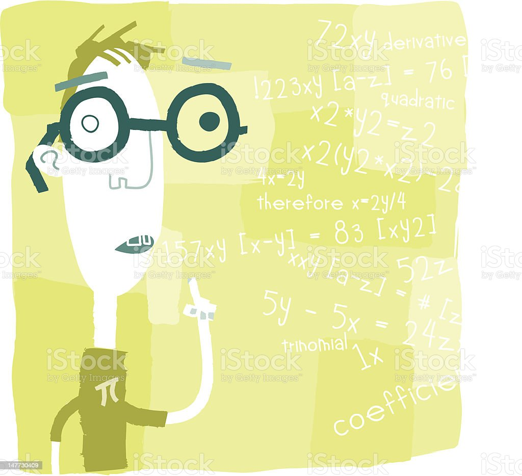Eugine Explains Something Mathematical royalty-free stock vector art