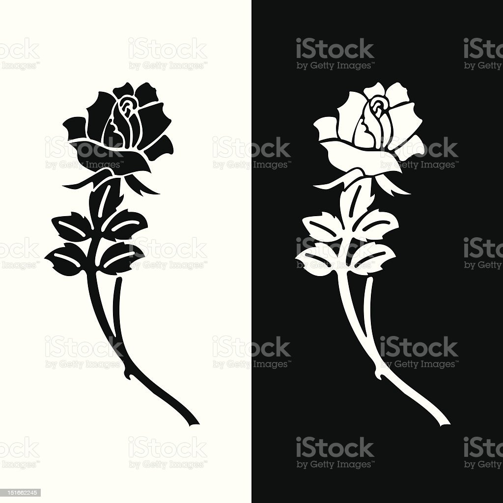 eulogy rose royalty-free stock vector art