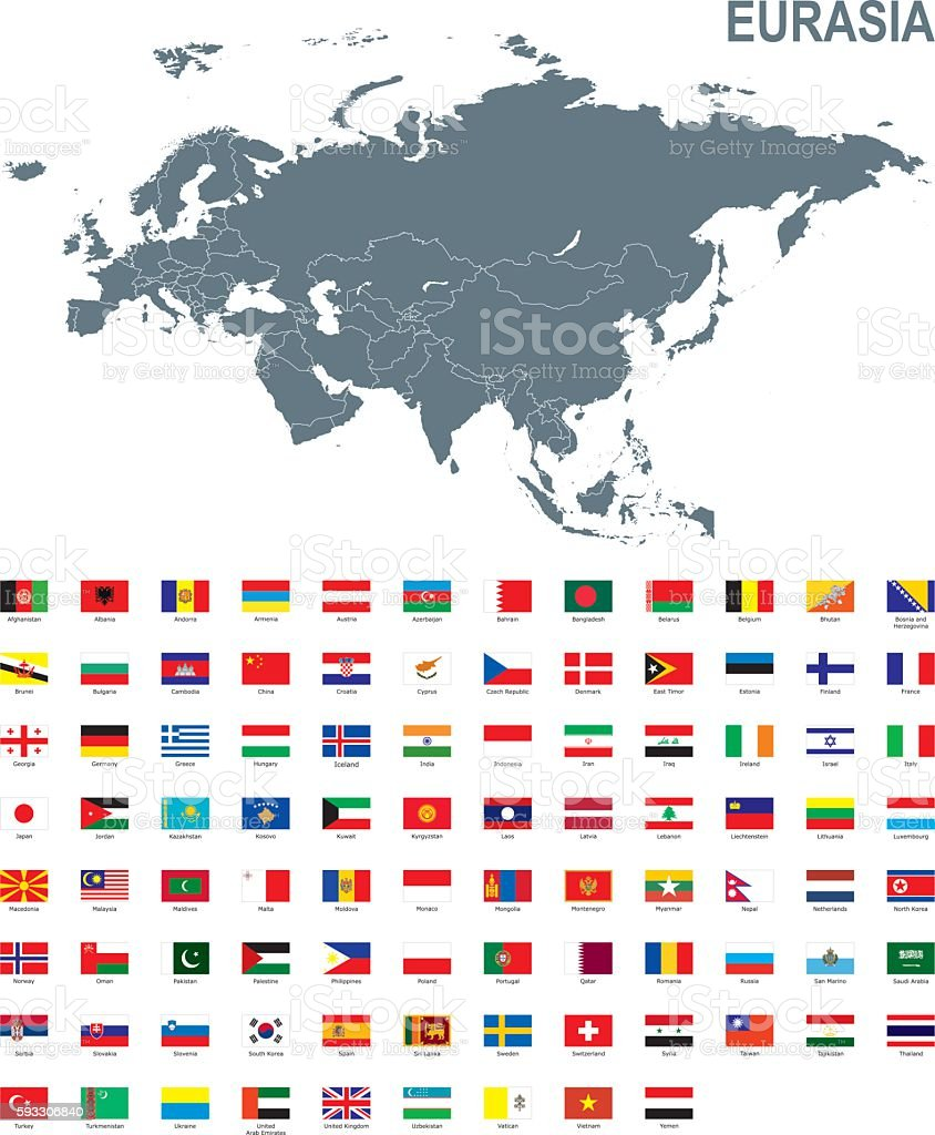 Eurasia vector art illustration