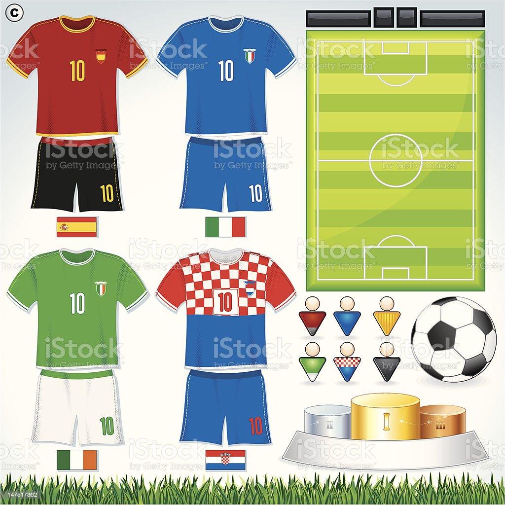 Euro 2012 Group C royalty-free stock vector art