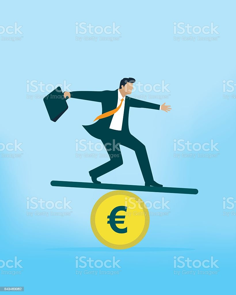 Euro Balance vector art illustration