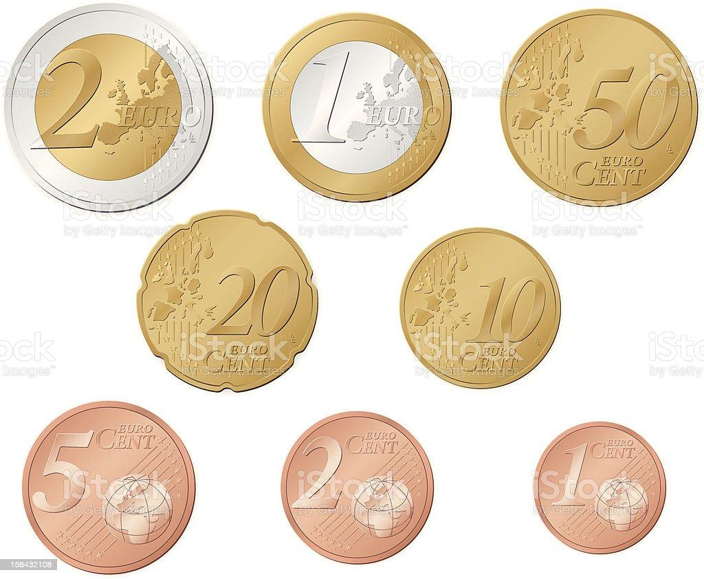 Euro coins royalty-free stock vector art