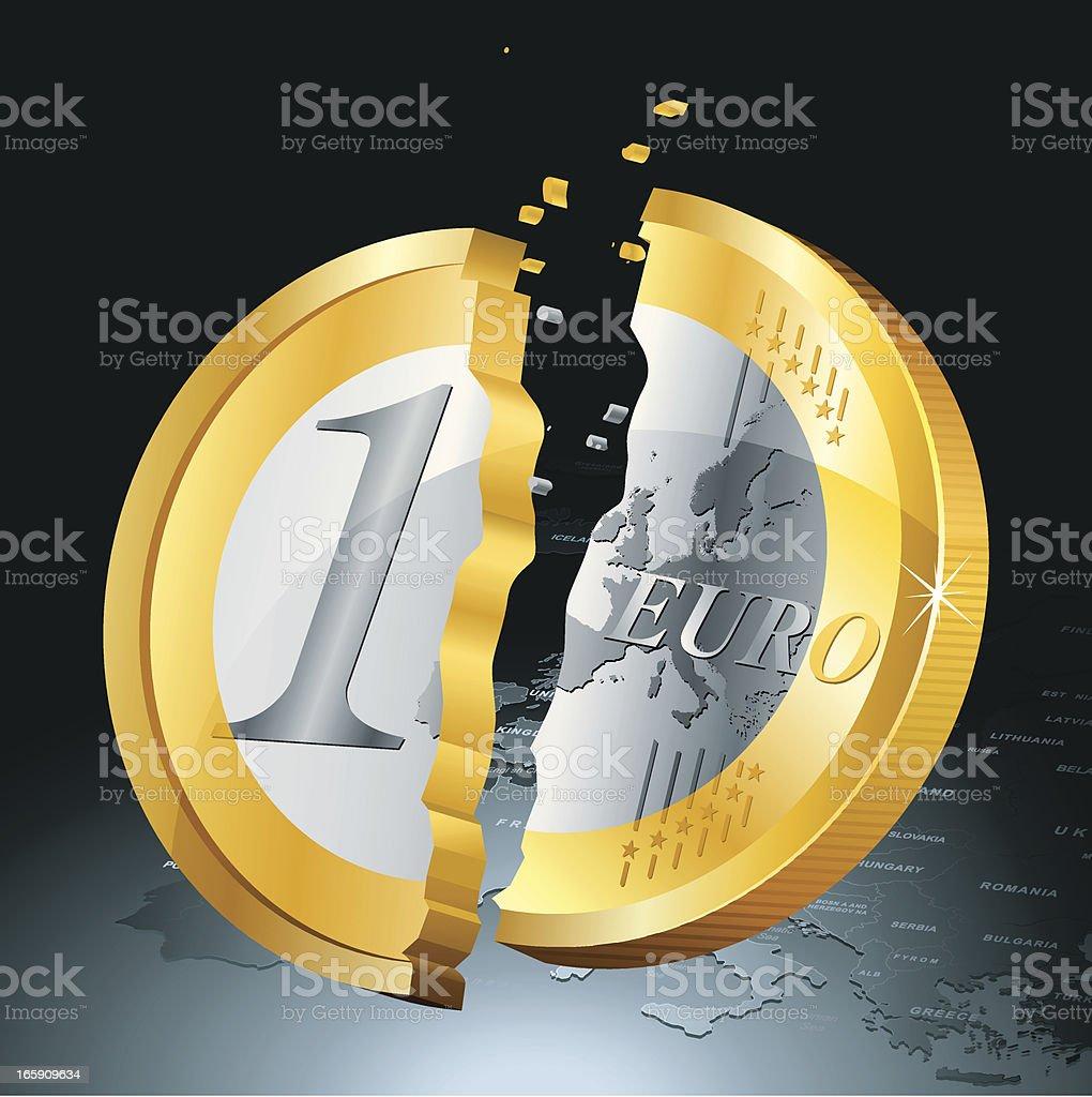 Euro Collapse royalty-free stock vector art