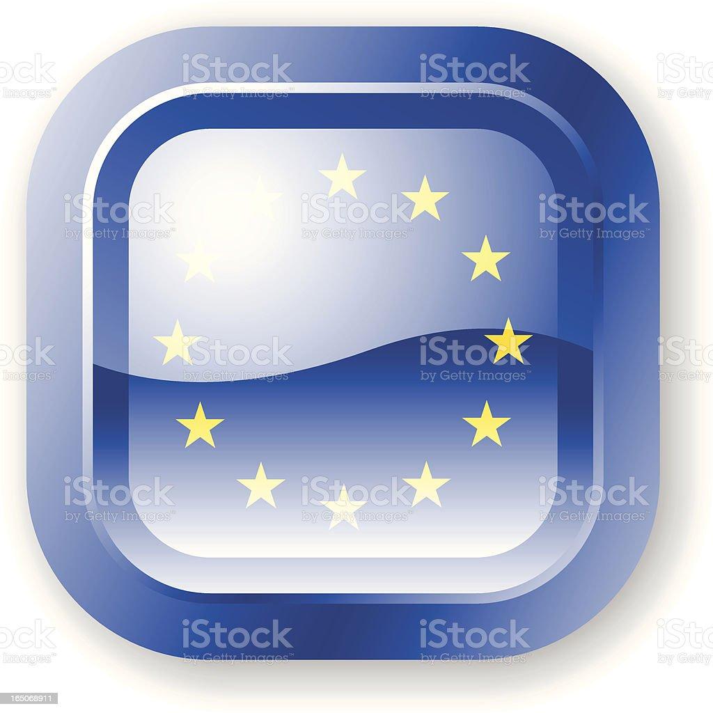 Euro Flag Icon royalty-free stock vector art
