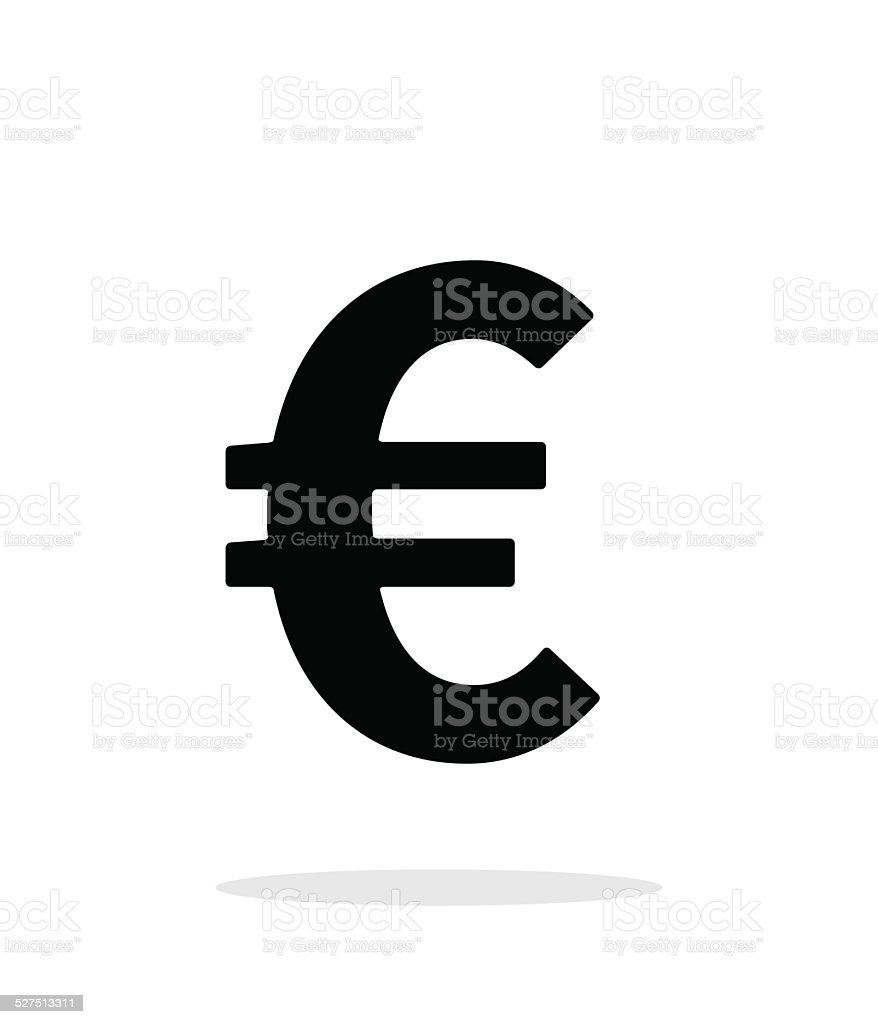 Euro icon on white background. vector art illustration