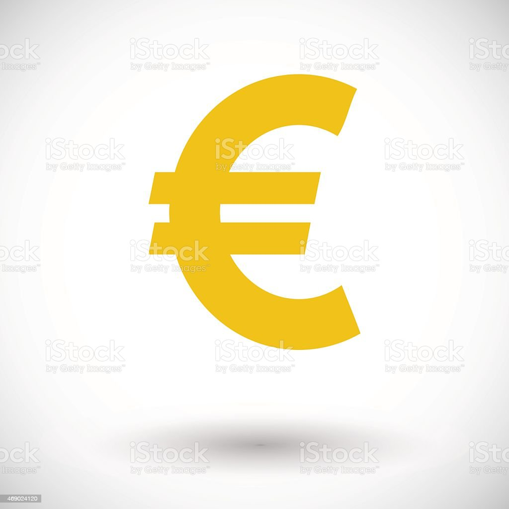 Euro icon vector art illustration