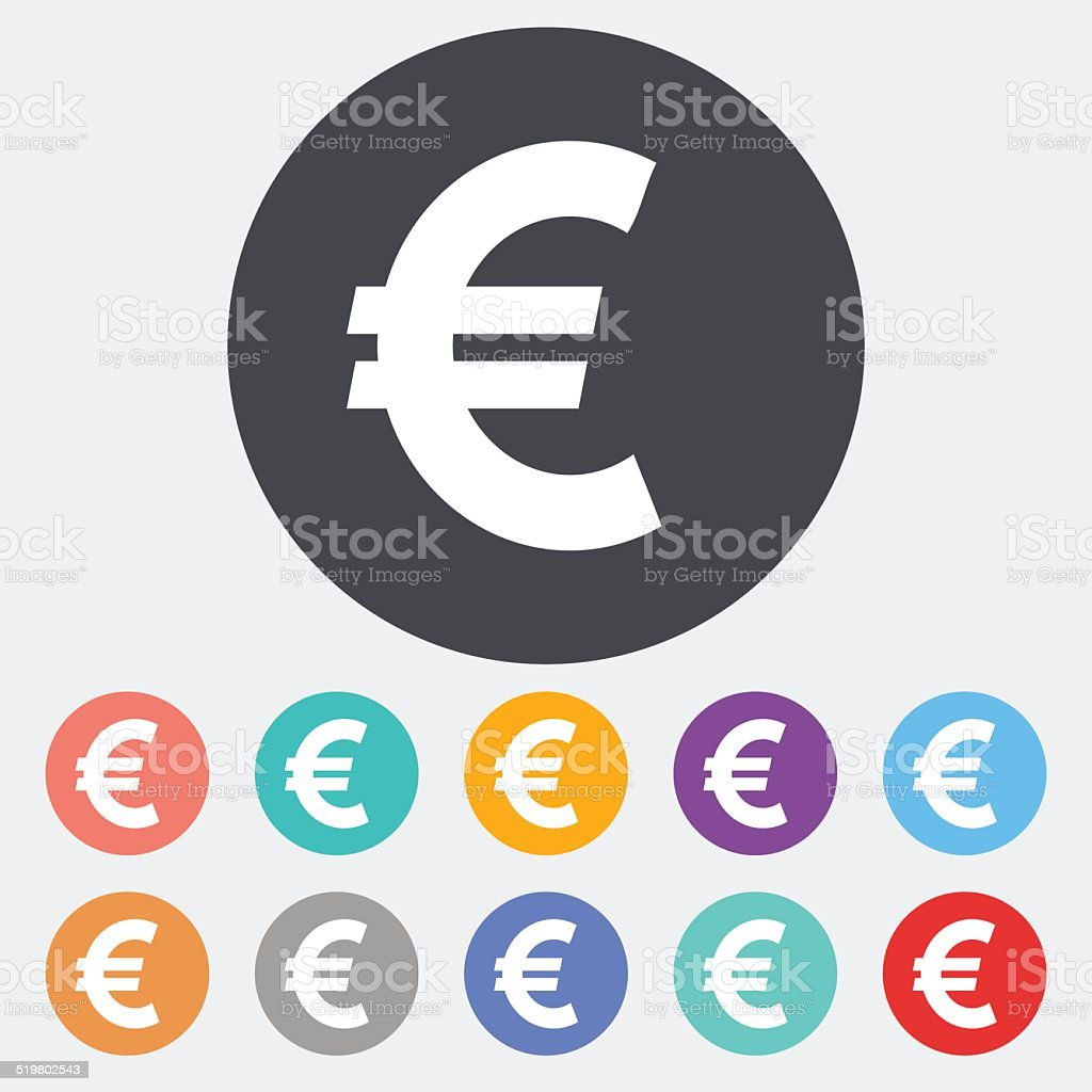 Euro icon. vector art illustration