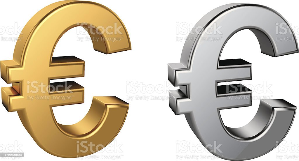 Euro sign vector art illustration