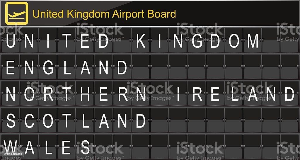 Europe airport digital boarding vector art illustration