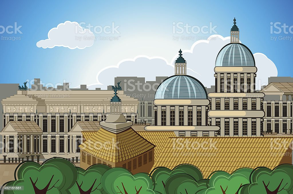 europe capital Rome background royalty-free stock vector art