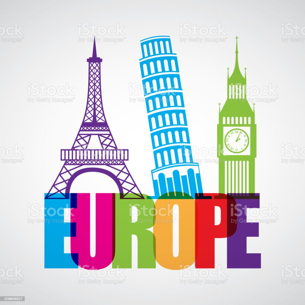 europe design vector art illustration