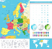 Europe detailed political map