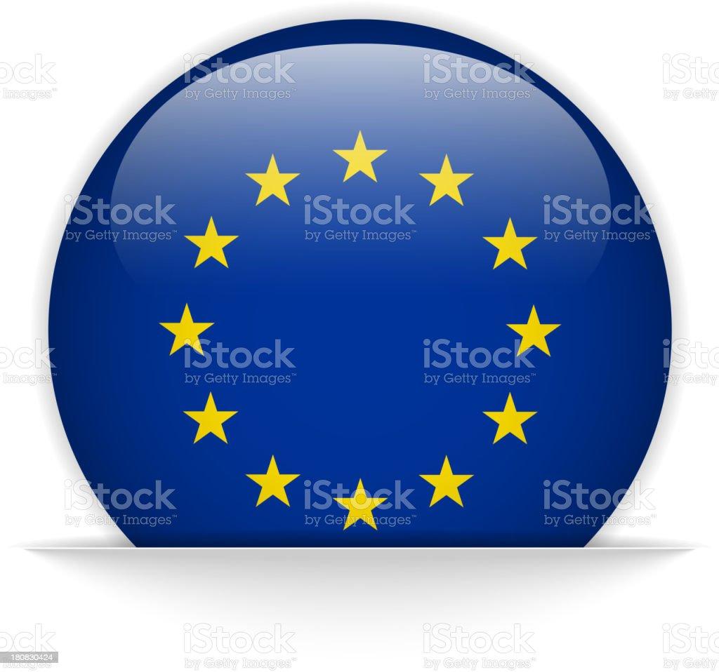 Europe Flag Glossy Button Hidden royalty-free stock vector art