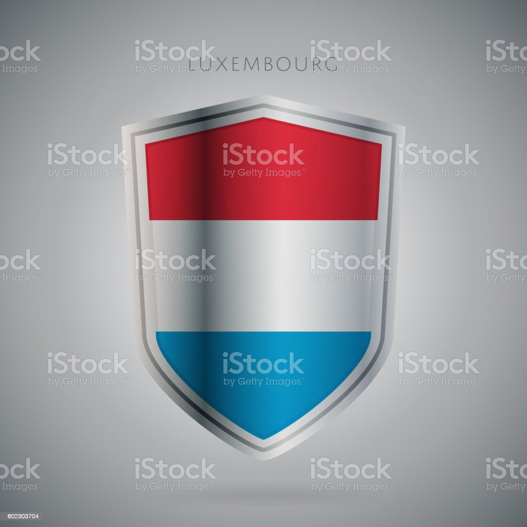 Europe flags series, vector. Luxembourg icon vector art illustration