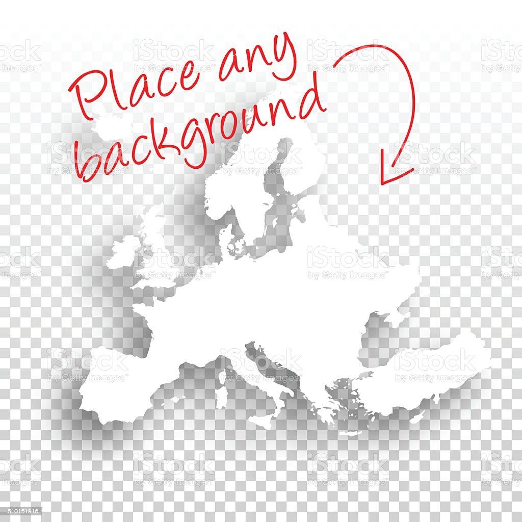 Europe Map for design - Blank Background vector art illustration