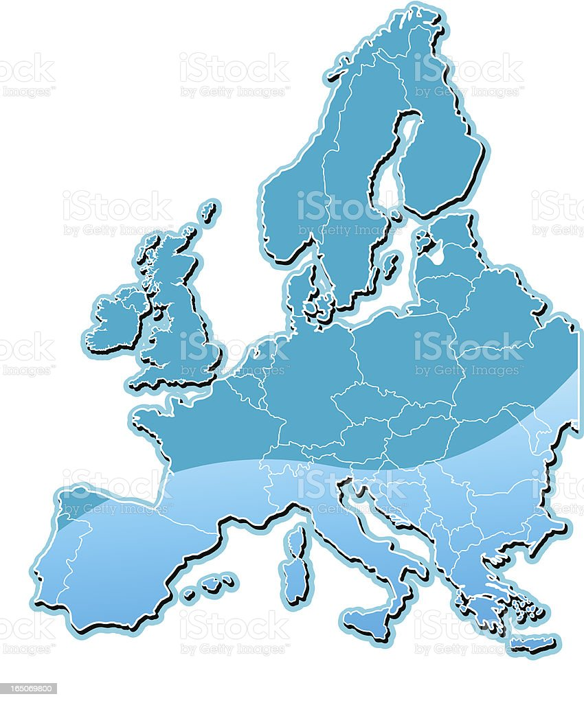 Europe map royalty-free stock vector art
