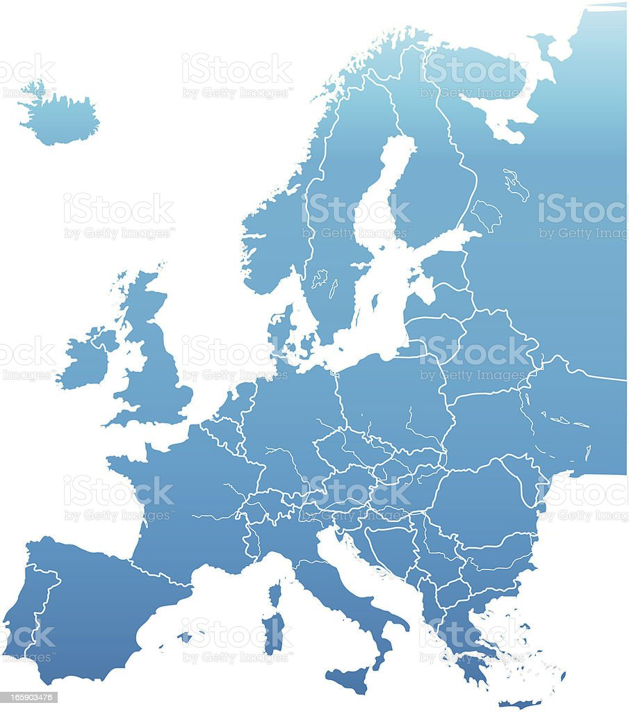 europe map vector art illustration