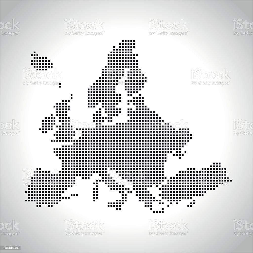 Europe Map vector art illustration