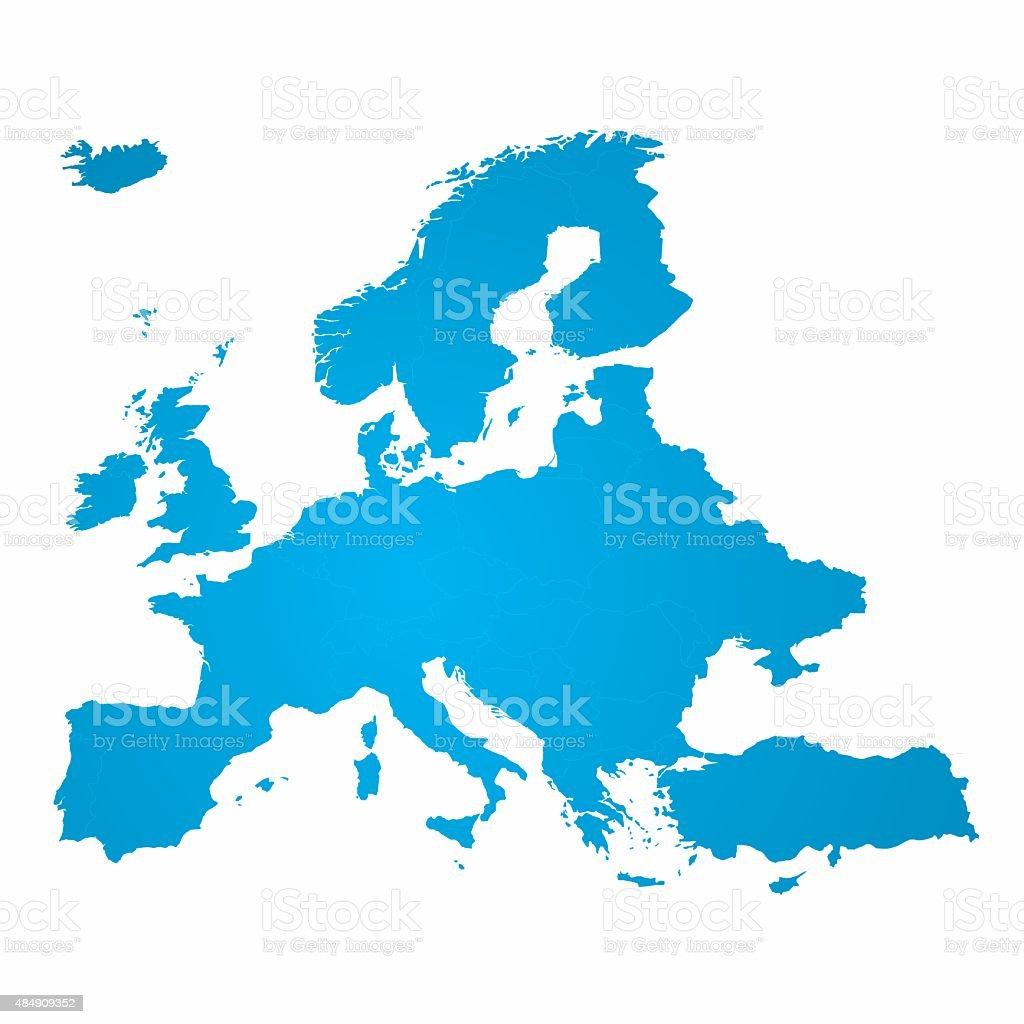 Europe Map Vector vector art illustration