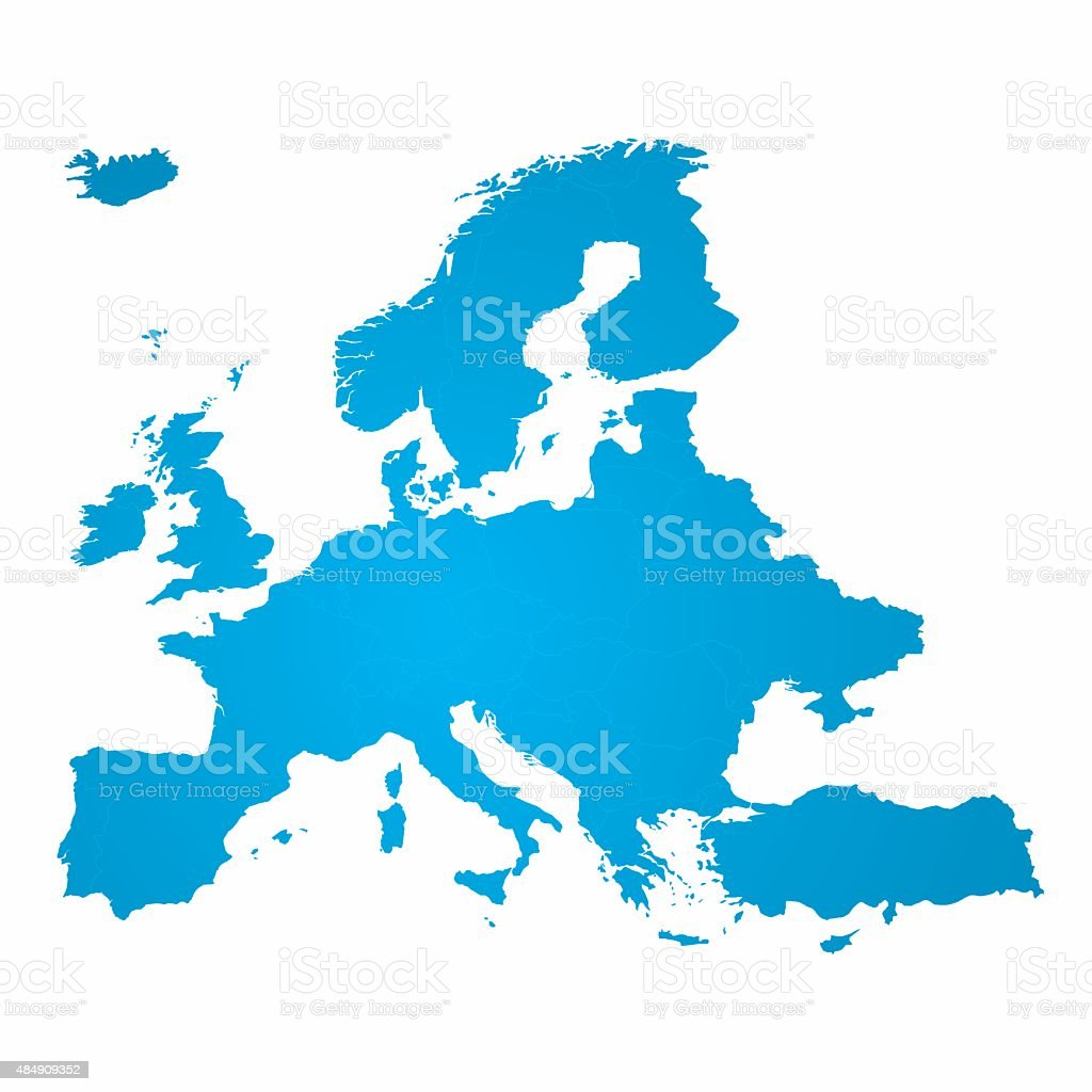Europe Map Vector vector art illustration
