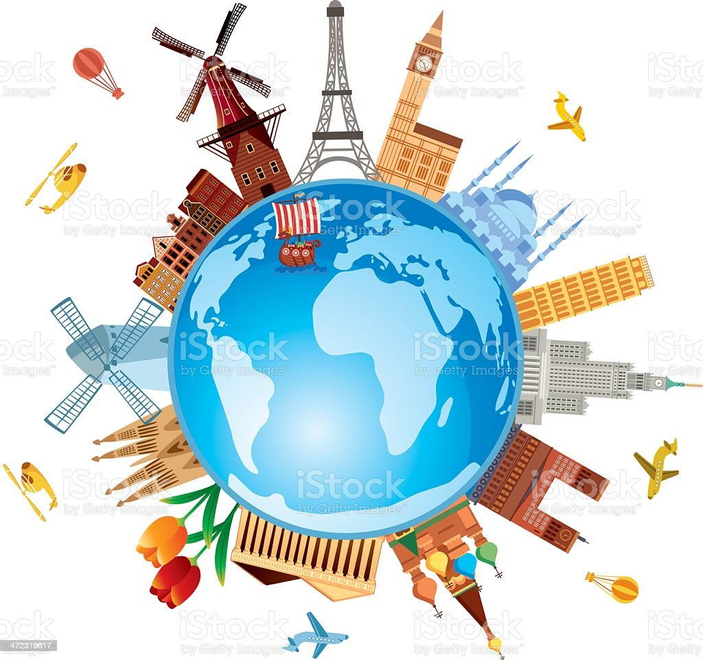 Europe Travel royalty-free stock vector art