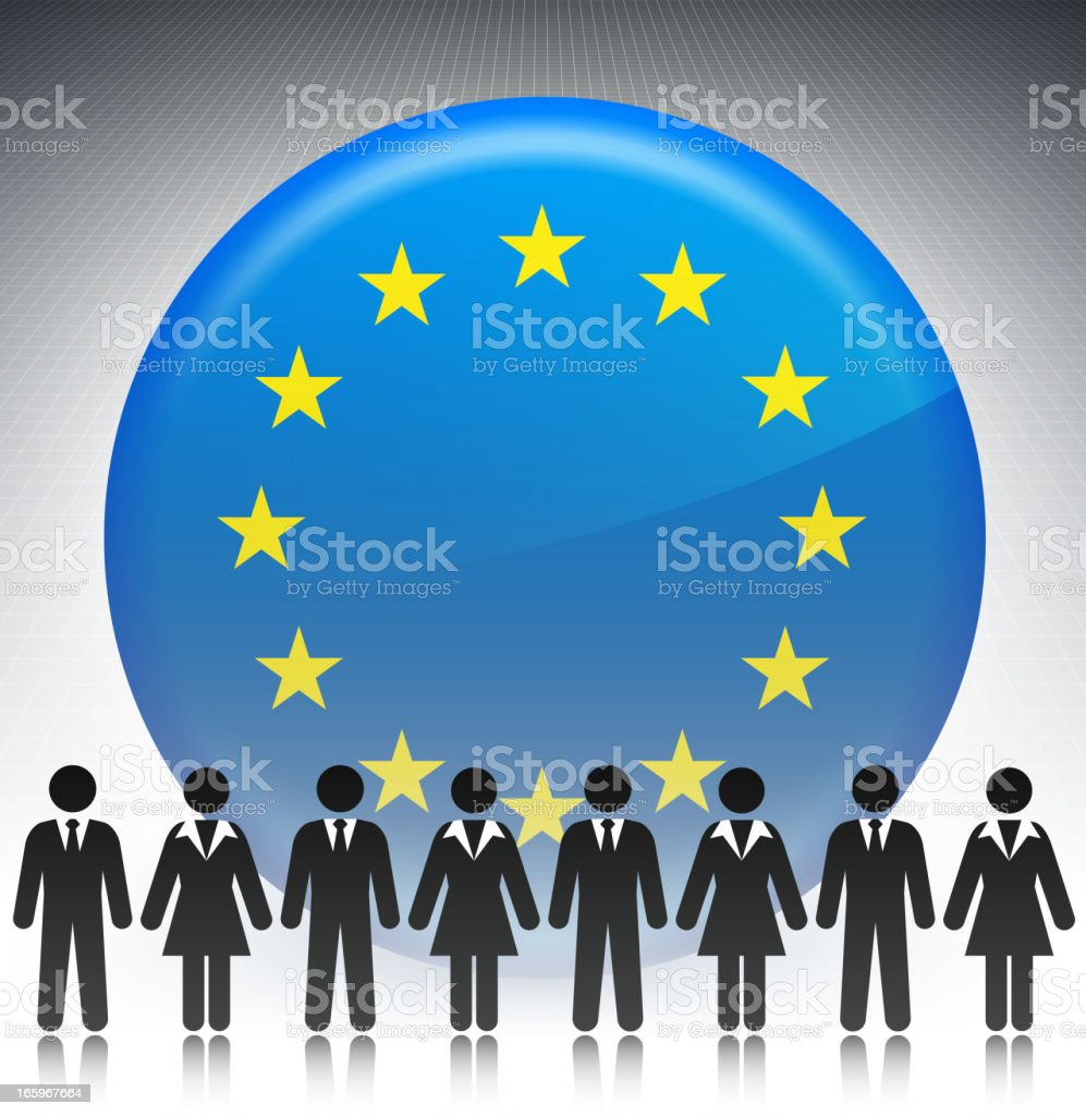 European business people Concept Stick Figures royalty-free stock vector art