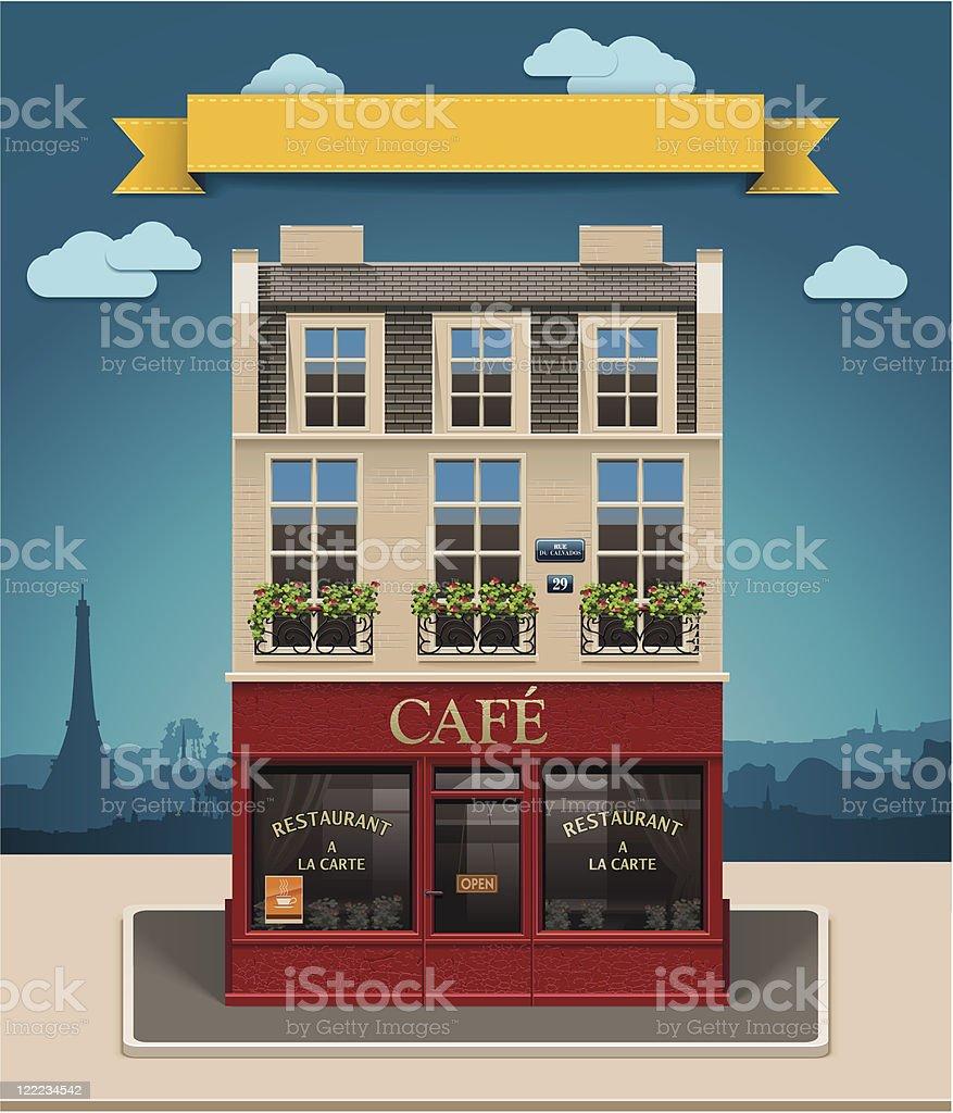 European cafe XXL icon vector art illustration