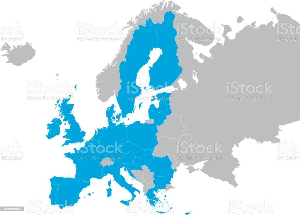 European countries shapes vector art illustration