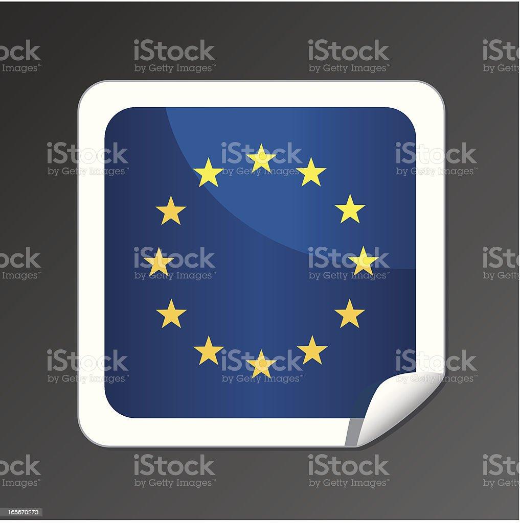 European flag button royalty-free stock vector art