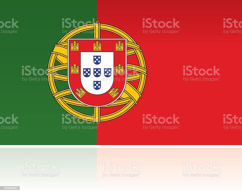 European Flag: Portugal royalty-free stock vector art