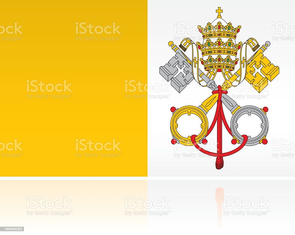 European Flag: Vatican City royalty-free stock vector art