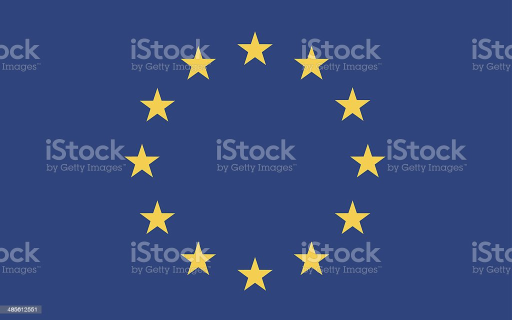 european flag vector vector art illustration