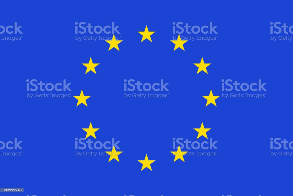 European flag. Vector vector art illustration