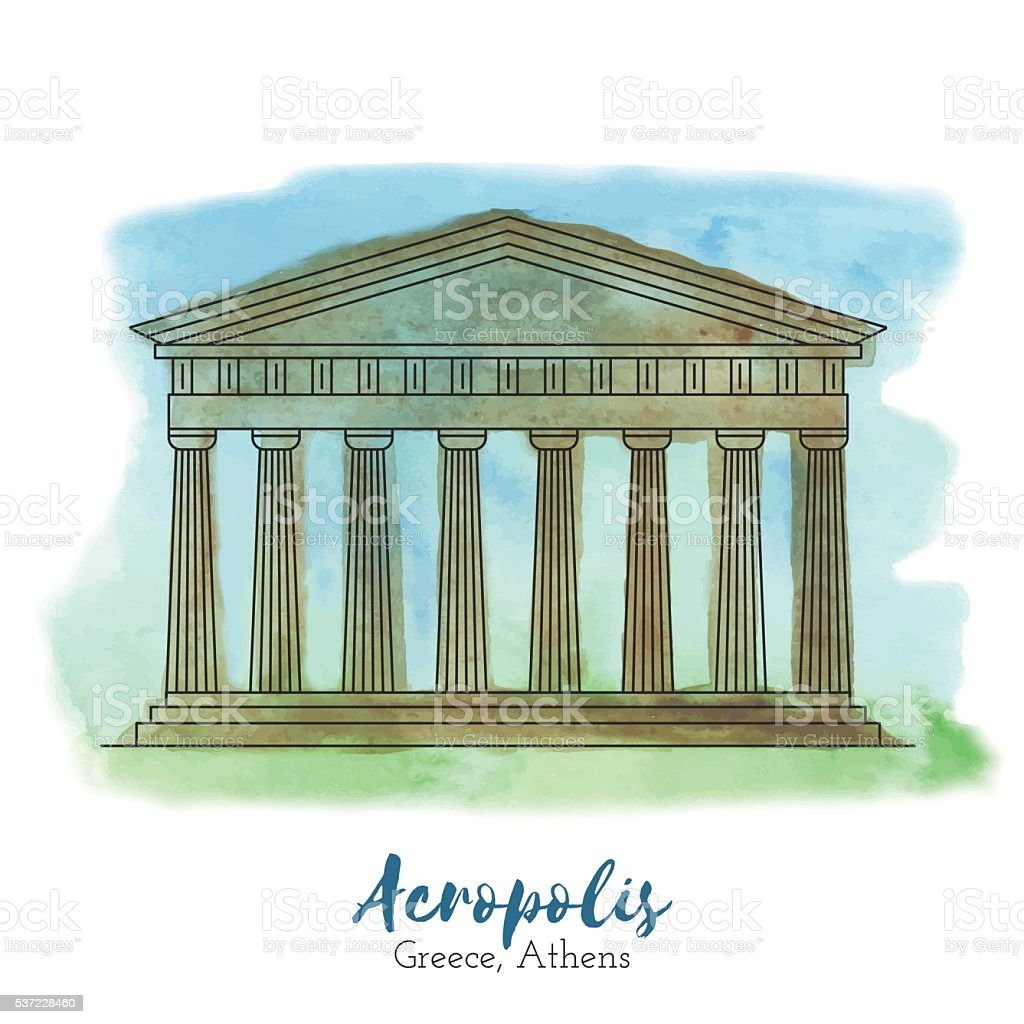 European landmark vector illustration vector art illustration