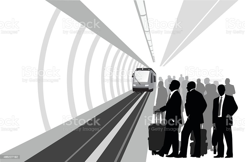 European Train vector art illustration