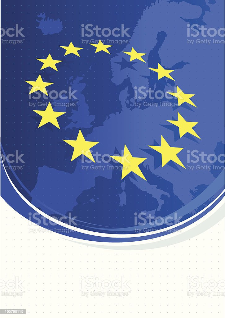 European Union background with space for copy royalty-free stock vector art